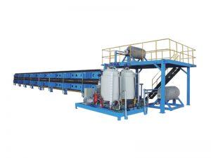 Produktionslinie für die kontinuierliche Herstellung von Polyurethanplatten